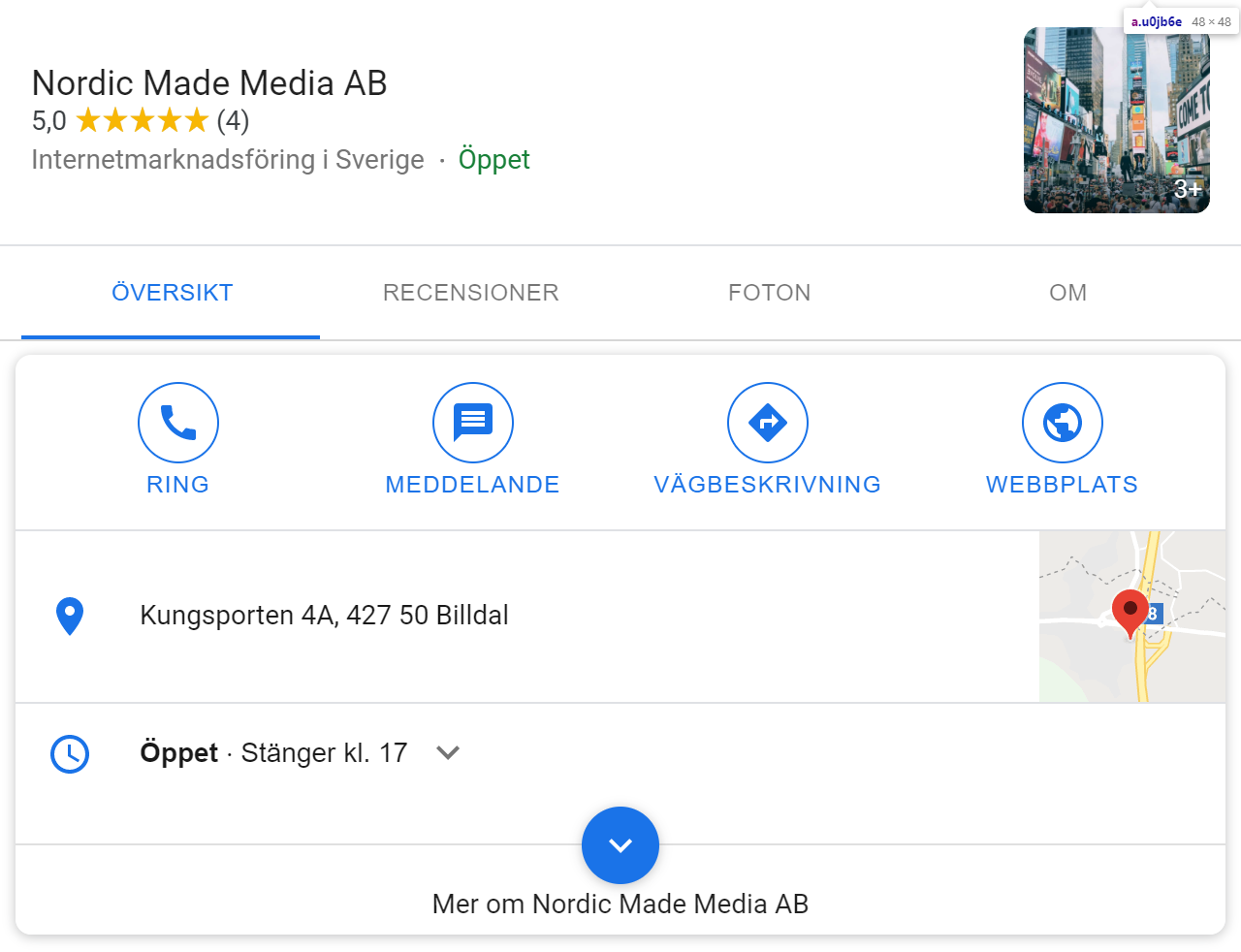 nordic made media google my business